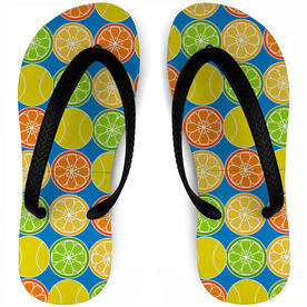 Tennis Flip Flops Citrus Serve