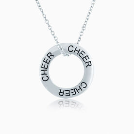 Cheer Message Ring Necklace