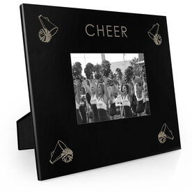 Cheerleading Engraved Picture Frame - Four Corners