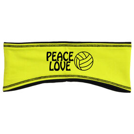 Volleyball Reversible Performance Headband Peace Love Volleyball