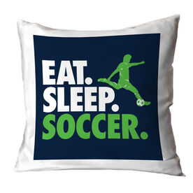Soccer Decorative Pillow - Eat Sleep Soccer (Guy)