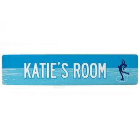 "Figure Skating Aluminum Room Sign - Personalized Figure Skating Room (4""x18"")"