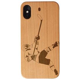 Hockey Engraved Wood IPhone® Case - Slap Shot