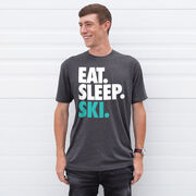 Skiing T-Shirt Short Sleeve Eat. Sleep. Ski.