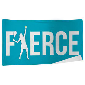 Tennis Beach Towel Fierce Girl