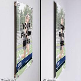 "Girls Lacrosse 18"" X 12"" Aluminum Room Sign - Classic Vertical Photo"