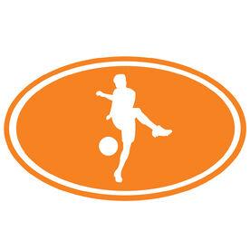 Soccer Boy Silhouette Vinyl Decal
