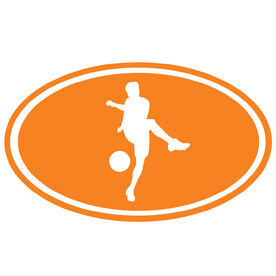 Soccer Boy Silhouette Vinyl Decal