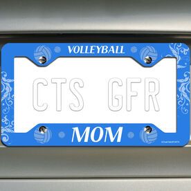 Volleyball License Plate Holder Volleyball Mom