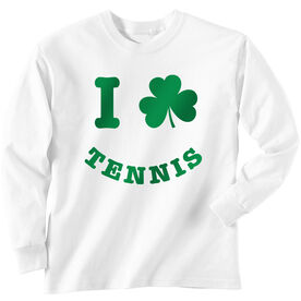 Tennis Tshirt Long Sleeve I Shamrock Tennis Smile