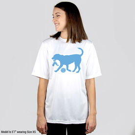 Volleyball Short Sleeve Performance Tee - Holly The Volleyball Dog