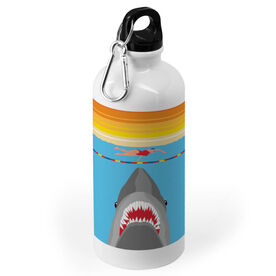 Swimming 20 oz. Stainless Steel Water Bottle - Shark Attack (Girl Swimmer)