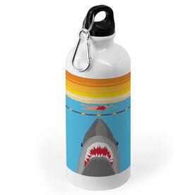 Swimming 20 oz. Stainless Steel Water Bottle - Shark Attack (Girl Swimmer)