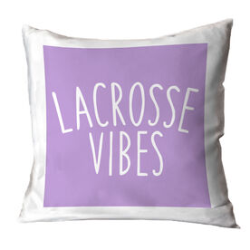 Girls Lacrosse Throw Pillow - Lacrosse Vibes