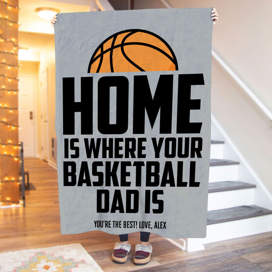 Basketball Premium Blanket - Home Is Where Your Basketball Dad Is