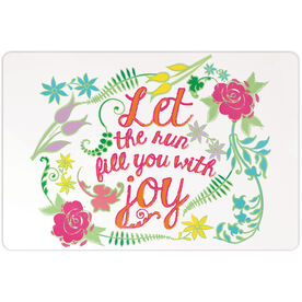 """Running 18"""" X 12"""" Wall Art - Let The Run Fill You With Joy"""