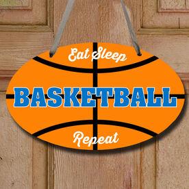Basketball Oval Sign - Eat Sleep Basketball Repeat