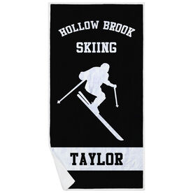 Skiing Premium Beach Towel - Personalized Ski Team