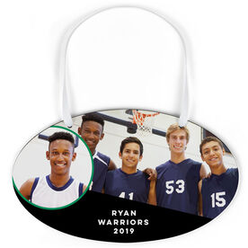 Basketball Oval Sign - Team and Player Photo