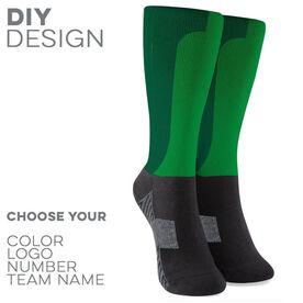 Printed Mid-Calf Socks - Synergy