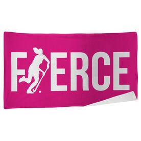 Field Hockey Beach Towel Fierce Girl