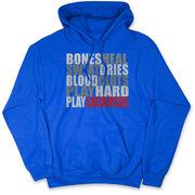 Guys Lacrosse Hooded Sweatshirt - Bones Saying