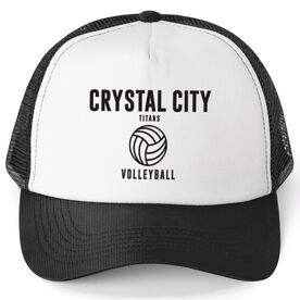 Volleyball Trucker Hat - Team Name With Text