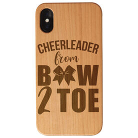 Cheerleading Engraved Wood IPhone® Case - Cheerleader from Bow 2 Toe