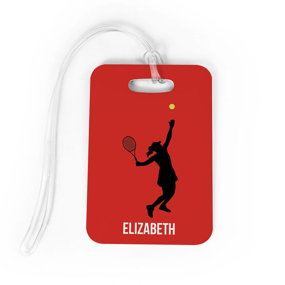 Tennis Bag/Luggage Tag - Personalized Girl Tennis Player