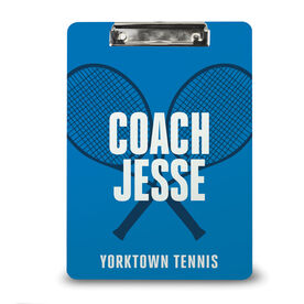 Tennis Custom Clipboard Tennis Coach