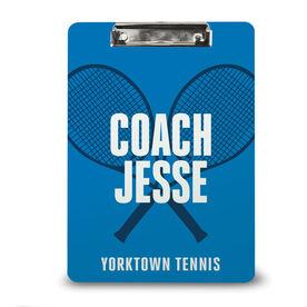 Tennis Custom Clipboard Tennis Coach