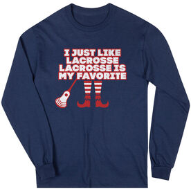 Guys Lacrosse Long Sleeve T-Shirt - Lacrosse's My Favorite