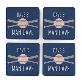 Baseball Stone Coasters Set of Four - Man Cave