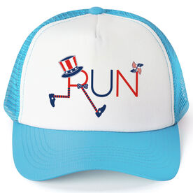 Running Trucker Hat - Let's Run for America