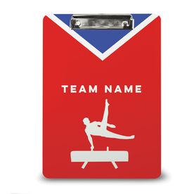 Gymnastics Custom Clipboard Team Name Male