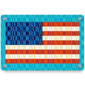 Crew Metal Wall Art Panel - American Flag Mosaic