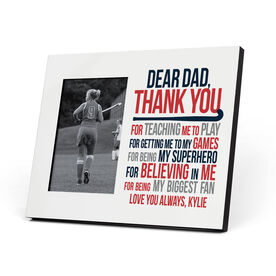 Field Hockey Photo Frame - Dear Dad