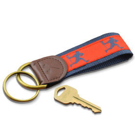 Lacrosse Players Key Fob (Red/Blue)