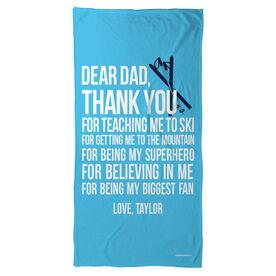 Skiing Beach Towel Dear Dad
