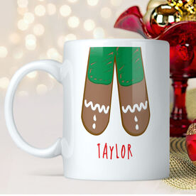 Gingerbread Legs Personalized Mug