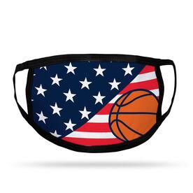 Basketball Adult Face Mask - USA Flag