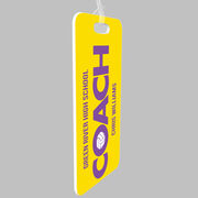 Volleyball Bag/Luggage Tag - Personalized Coach