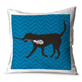 Guys Lacrosse Throw Pillow Max The Lax Dog