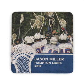 Guys Lacrosse Stone Coaster - Team Photo with Stick