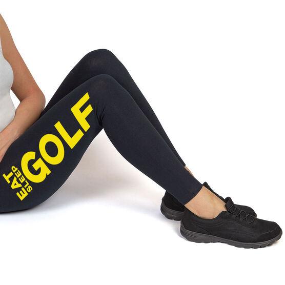 Golf High Print Leggings Eat Sleep Golf