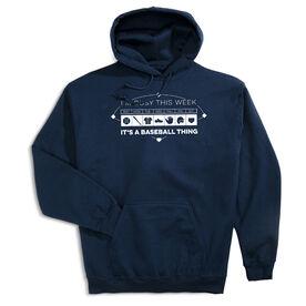 Baseball Hooded Sweatshirt - 24-7 Baseball