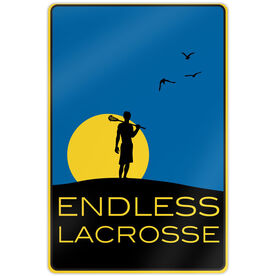 "Endless Lacrosse Aluminum Room Sign (M) (18"" X 12"")"