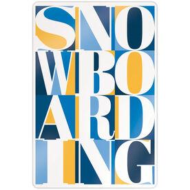 "Snowboarding 18"" X 12"" Aluminum Room Sign - Snowboarding Mosaic"