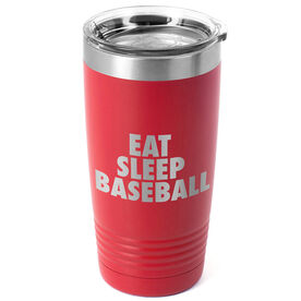 Baseball 20 oz. Double Insulated Tumbler - Eat Sleep Baseball