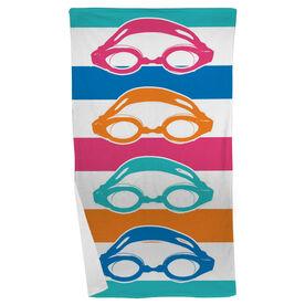 Swimming Beach Towel Colorful Swim Goggles